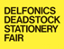 DELFONICS DEADSTOCK STATIONERY FAIR